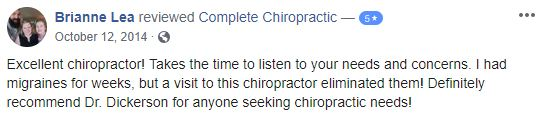 Patient Testimonial at Complete Chiropractic